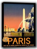Vintage Paris Travel Canvas. Sizes: A4/A3/A2/A1 (002690)